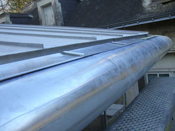 Terrasse Zinc Joint Debout : Couverture joint debout avec casquette HARDOUIN LA u00ceNE SARL