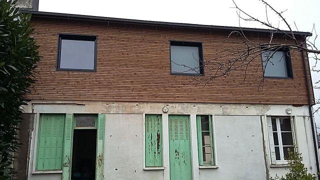 R haussement ossature bois hardouin lain for Rehaussement de toiture
